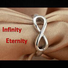 Edler schlichter INFINITY ETERNITY Ring 925 Sterling Silber NEU + Mehr im Shop