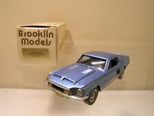 BROOKLIN MODELS 24 FORD SHELBY MUSTANG GT500 1968 BLUE MET. MINT/BOX SCALE 1:43