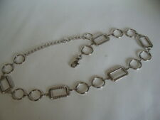 Metal Belt Silver Tone Adjustable Chain 41