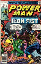 POWER MAN #48 (Marvel Vol 1) Luke Cage IRON FIST 1st meet! Byrne-art ..Dec 1977!