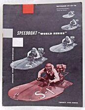 1955 SPEEDBOAT WORLD SERIES Program SHREVEPORT LA American Power Boat HYDROPLANE