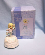 Collectible Musical Precious Moments Girl Rotating with Snowflake in Her Hand
