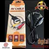 A/V Cable Cord & AC Power Cord (NEW) Sega Dreamcast (AV Audio Video Adapter) NIB