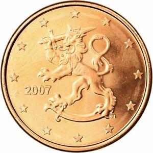 [#702295] Finlande, 5 Euro Cent, 2007, FDC, Copper Plated Steel, KM:100