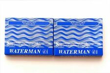 Waterman - 4 X 8 Washable Blue Serenity Ink Cartridges In Carton Box