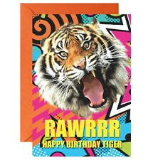 Rawrrrr Happy Birthday Tiger Greetings Birthday Card