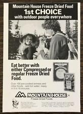1978 Mountain House Freeze Dried Foods for Outdoor People Ad Woodsy Owl Blurb