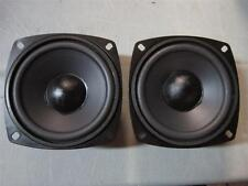"NEW (2) 4"" Woofer Speakers.Replacement Driver Pair.Four Inch.Pin Cusion.8ohm.4in"