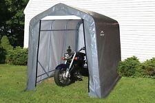 "ShelterLogic 6x10x6'6"" Peak Storage Shed Portable Garage Steel Canopy Gray 70403"