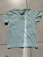 Mädchen T-Shirt, Tom Tailor, Gr. 116/122, Hell-Blau, Kurzarm