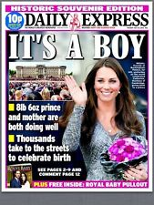 Prince William & Kate Middleton Birth Of Royal Baby Daily Express Newspaper