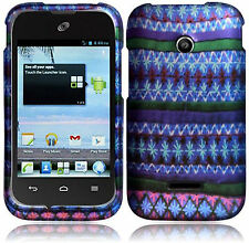 Huawei Glory H868C Rubberized HARD Protector Case Phone Cover African Pattern