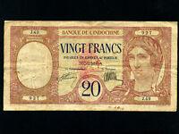New Hebrides:P-6,20 Francs,1941 * French Rule *