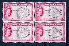 ASCENSION 1956 DEFINITIVES SG58 1d BLOCK OF 4 MNH