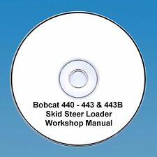 Bobcat 440, 443 & 443B Skid Steer Workshop Manuale