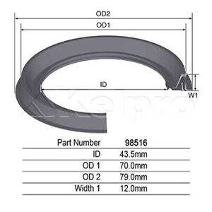 Kelpro Oil Seal 98516 fits Ford Territory 4.0 AWD (SX,SY), 4.0 Turbo AWD (SX,SY)