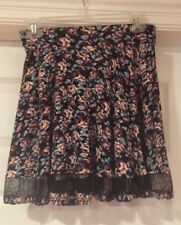 Urban Outfitters Multi Color Floral Print Viscose Blend Mini Skirt M