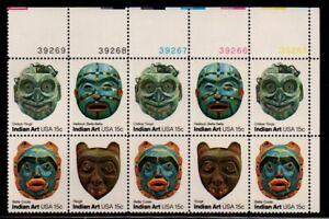 ALLY'S STAMPS US Plate Block Scott #1834-7 15c Indian Masks [12] MNH F/VF [A-UR]