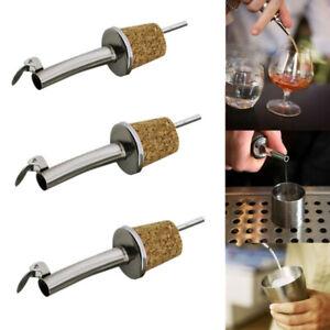 Metal Plug Barware Kitchen Oil Dispenser Wine Pourer Bottle Stopper Wooden Cork