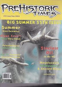 RARE #55 Issue Prehistoric Times dinosaur magazine PT OOP, Not sold anymore.