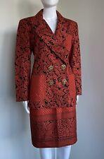Christian Lacroix Spring 1994 size 44 burnt orange black jacket skirt set vintag