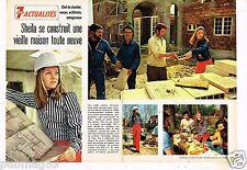 Coupure de Presse Clipping 1972 (2 pages) Sheila se construit une maison