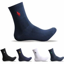 5 Pairs Men's Mid Calf Warm Sport Dress Polo Business Classic Style Cotton Socks