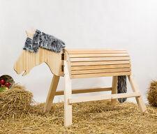 Holzpferd,Voltigierpferd,Pferd, bewegl.-Kopf ca.105cm
