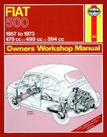 Fiat 500 1957-1973 Reparaturanleitung workshop repair manual Handbuch Buch book
