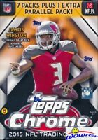 2015 Topps Chrome Football EXCLUSIVE Factory Sealed Blaster Box-Bonus REFRACTORS