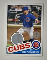 2020 Topps Series 2 1985 Baseball Relic #85TR-KS Kyle Schwarber - Chicago Cubs