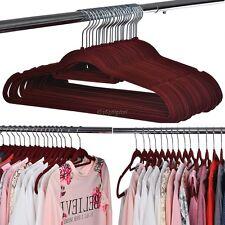 50PCS Non Slip Flocked Clothes Hanger Space-Saving Coat Trousers Hangers