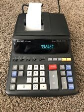 Sharp EL-2196BL 12 Digit 2 Color Printer Electronic Calculator Tested Works