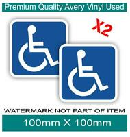 Handicap Sign Disability Disabled Decal Sticker x2 for Wheel Chair Car Truck Van