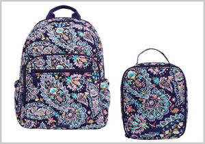 NWT VERA BRADLEY ⚜ CAMPUS BACKPACK & MATCHING LUNCH BUNCH BAG ⚜ FRENCH PAISLEY