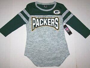 New Green Bay Packers Football NFL Team Graphics Logo Top Shirt Rhinestone Women