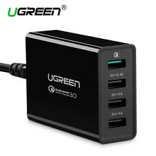 Ugreen Qualcomm Quick Charge 3.0 4 Ports USB Phone Charger for iPhone Samsung LG