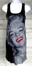 New Marilyn Monroe Dress by Sam Shaw Size Medium Black Sequin Dress NWT A4511
