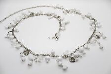 Women's Charm Waist Chain Belt with White Beads - Brand New 4 Different Sizes