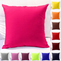 "18""x18"" Pillow Cushion Cover Home Decor Bed Sofa Throw Case Durable Solid Cotton"