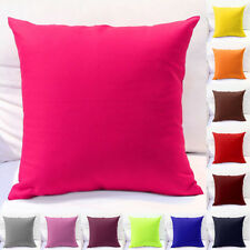 """Fashion Solid Cotton Pillow Cushion Cover Home Table Bed Sofa Throw Case 18""""x18"""""""