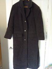 marks & Spencer wool mix ex long 14 grey coat