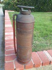 Antique Copper Fire Extinguisher Aristocrat   2 1/2 Gal. Los Angeles