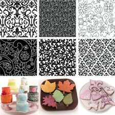 6Pcs/Set Texture Mat Flower Fondant Cake Mold Cupcake Sugarcraft Baking Tools