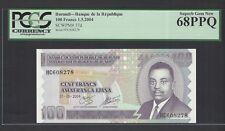 Burundi 100 Francs 1-5-2004 P37d Uncirculated Graded 68