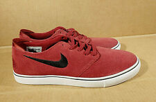 Nike SB Zoom sz 9.5 Red Suede Leather Oneshot Skateboarding Trainer Sneakers