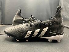 adidas PREDATOR FREAK .3 FG J Soccer Cleats Black/White US Boy's Size 5.5 HP165