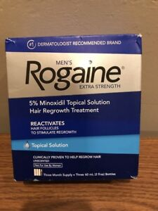 1 Of Rogaine Men's Hair Regrowth Treatment Solution 3Mo. Sup Unscented EX:07/22+