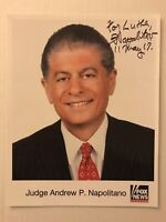 Judge Andrew P. Napolitano Autographed Hand Signed 8x10 Photo Fox News