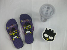 Hello Kitty Badtz Maru Beach Kit lot- Flip flops, Cup w/ Lid & Snack container